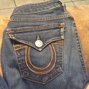 True religion blue jeans (worn once)
